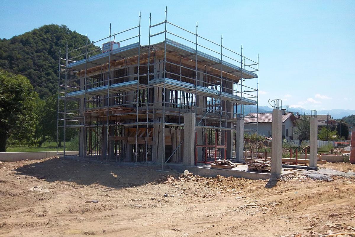 cantiere costruzione villa cuneo